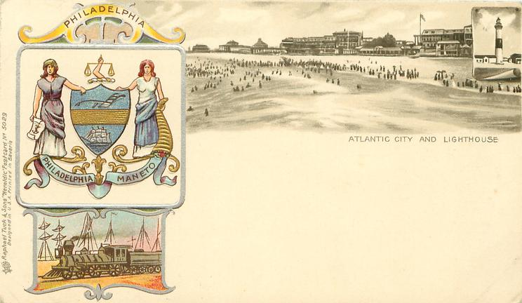 ATLANTIC CITY AND LIGHTHOUSE