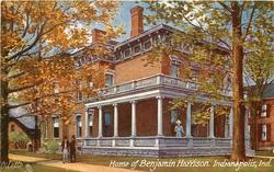 HOME OF BENJAMIN HARRISON, INDIANAPOLIS, IND.