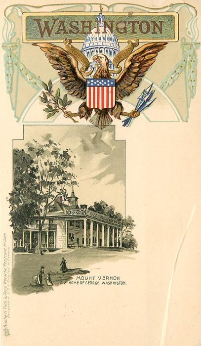 MOUNT VERNON, HOME OF GEORGE WASHINGTON