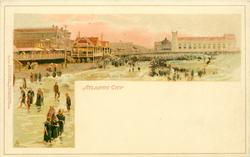 THE BOARDWALK AND BEACHSCENE