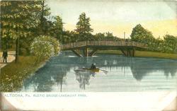 RUSTIC BRIDGE - LAKEMONT PARK