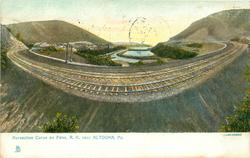 HORSESHOE CURVE ON THE PENN. R.R. NEAR ALTOONA, PA.
