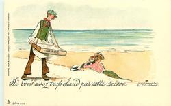 SI VOUS AVEZ TROP CHAUD PAR CETTE SAISON  ice cream seller disturbs lovers on beach