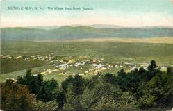 THE VILLAGE FROM MOUNT AGASSIZ