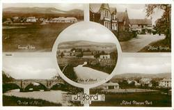 5 insets GENERAL VIEW/ALFORD BRIDGE/VALE OF ALFORD/BRIDGE OF ALFORD/ALFORD PLEASURE PARK