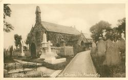 LLANSANTFFRAID CHURCH. NR. ABERKENFIG