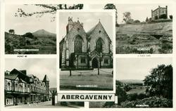5 insets SUGAR LOAF MOUNTAIN/THE CASTLE/ST. MARY'S CHURCH/ FROGMORE STREET/USK VALLEY