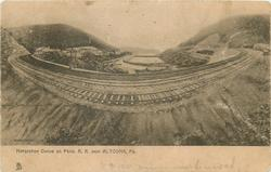 HORSESHOE CURVE ON THE PENN. R .R. NEAR ALTOONA, PA.