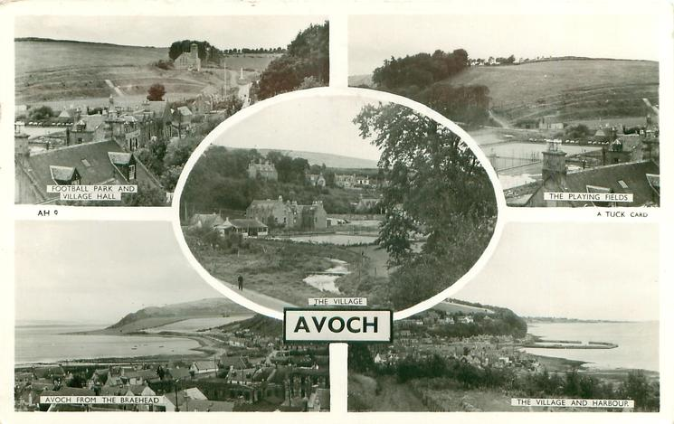 5 insets FOOTBALL PARK AND VILLAGE HALL/THE PLAYING FIELDS/THE VILLAGE/AVOCH FROM THE BRAEHEAD/THE VILLAGE AND HARBOUR