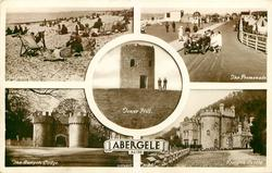 5insets THE BEACH/THE PROMENADE/TOWER HILL/THE GWRYCH LODGE/GWRYCH CASTLE