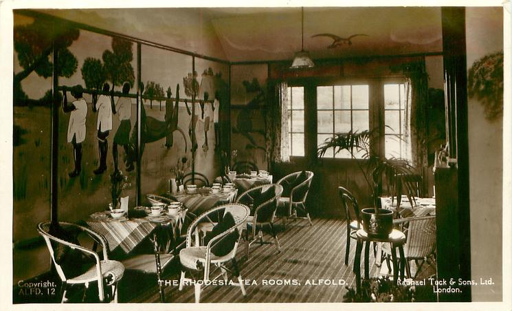 THE RHODESIA TEA ROOMS  interior, window back