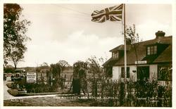 THE RHODESIA TEA ROOMS  exterior, prominent flag