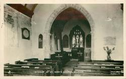 INTERIOR OF ST. MARY'S CHURCH, MILSTON