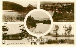 5 insets LOCH PITYOULISH/GENERAL VIEW/RIVER SPEY/LOCH-AN-EILAN & CASTLE/LOCH PLADERON