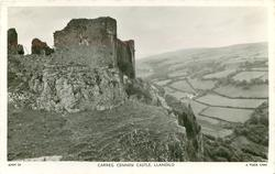 CARREG CENNEN CASTLE, LLANDILO  from side