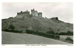 CARREG CENNEN CASTLE, LLANDILO from below