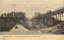 LOWER AND HIGHER BRIDGES OVER CUYAHOGA RIVER