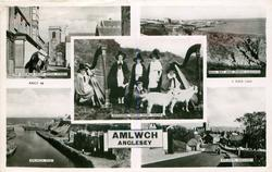 5 insets  AMLWCH/THE CHURCH FROM MONA STREET/BULL BAY AND PORTH LLECHOG/NATIONAL WELSH HARP CHOIR/ALMWCH PORT/ALMWCH, ANGLESEY