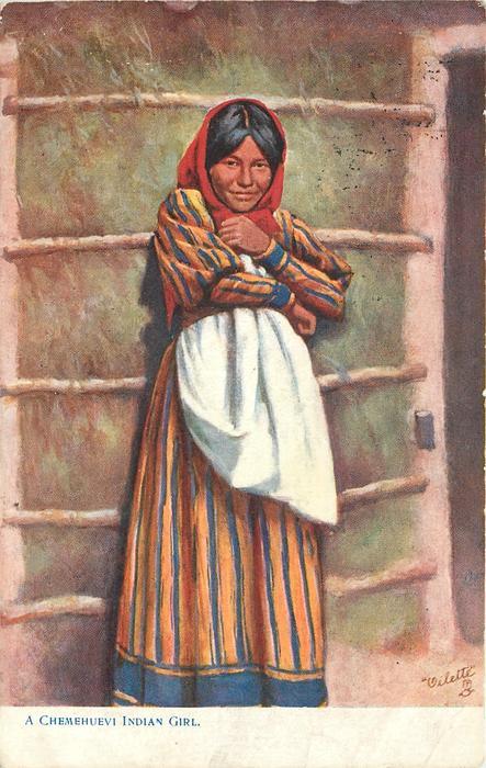 A CHEMEHUEVI INDIAN GIRL