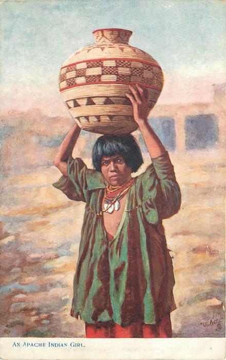 AN APACHE INDIAN GIRL