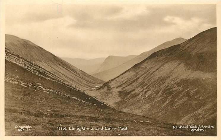 THE LARIG GHRU AND CAIRN TOUL