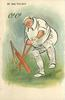 O! O!  batsman hurt by a fast ball that has got him out