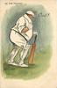 OUT!  obese batsman walks away