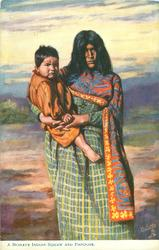 A MOHAVE INDIAN SQUAW AND PAPOOSE