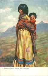 A WALAPAI INDIAN SQUAW AND PAPOOSE