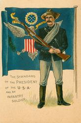 THE STANDARD OF THE PRESIDENT AND AN INFANTRY SOLDIER