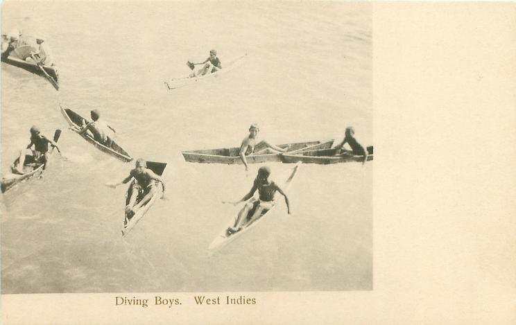DIVING BOYS, WEST INDIES