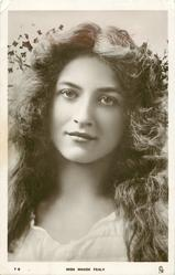 MISS MAUDE FEALY  long hair, no hat