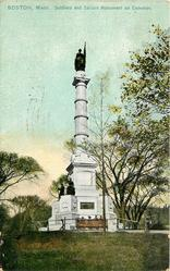 SOLDIERS AND SAILORS MONUMENT ON COMMON