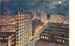 ATLANTA  night scene of city centre