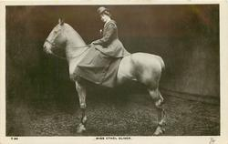 MISS ETHEL OLIVER, on horseback