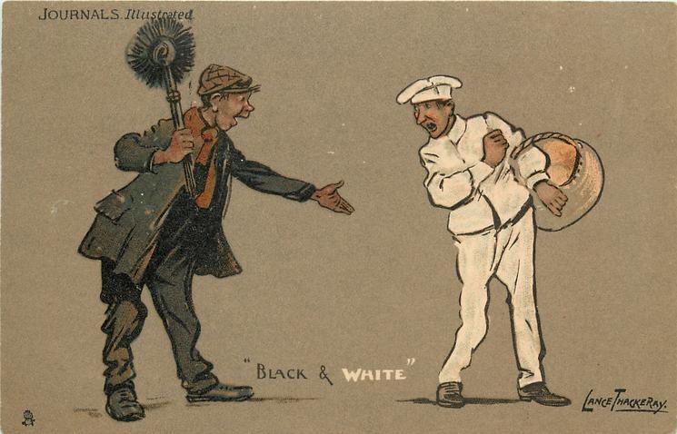 """""""BLACK AND WHITE""""  chimney sweep & baker"""