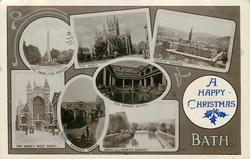 7 insets THE PARK,THE OBELISK/THE ABBEY/NORTH PARADE/THE ABBEY, WEST FRONT/PLTENEY BRIDGE/THE ROMAN BATHS/BATH FROM NORTH PARADE