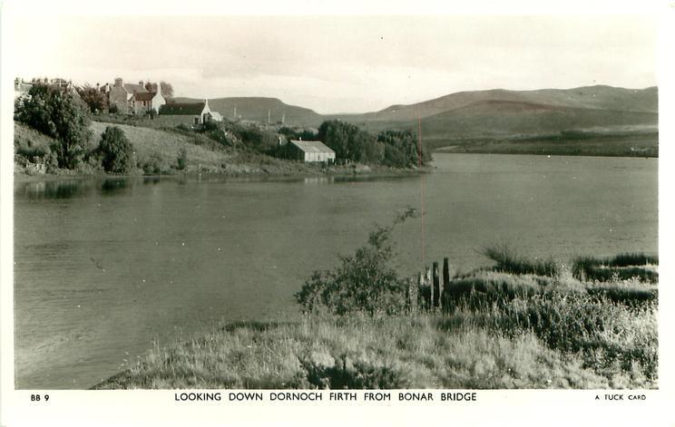 LOOKING DOWN DORNOCH FIRTH FROM BONAR BRIDGE