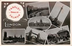 6 insets THAMES EMBANKMENT/NELSON'S COLUMN/ST. PAUL'S FROM BANKSIDE/HOUSES OF PARLIAMENT/TOWER BRIDGE/BANK & ROYAL EXCHANGE