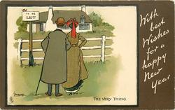 WITH BEST WISHES FOR A HAPPY NEW YEAR, THE VERY THING  couple inspect property TO BE LET