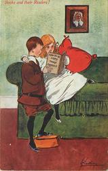 HOW TO BE HAPPY THOUGH MARRIED   young boy & girl read together