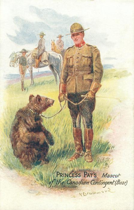 PRINCESS PAT'S MASCOT OF THE CANADIAN CONTINGENT (BEAR)