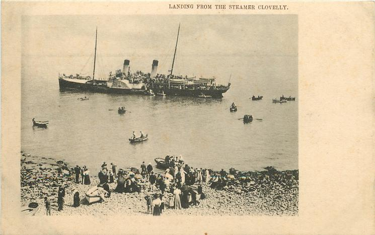 LANDING FROM THE STEAMER, CLOVELLY