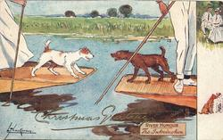 THE INTRODUCTION  dogs on punts make friends-and then so do their owners