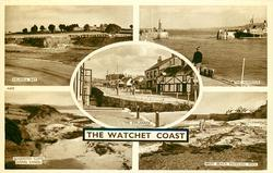 WATCHET COAST 5 insets HELWELL BAY/THE HARBOUR/THE ESPLANADE/ALABASTER CLIFFS(LONG SANDS/WEST BEACH PADDLING POOL