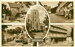 DUNSTER 5 insets THE OLD MILL/WEST STREET/THE CHURCH/HIGH STREET/THE NUNNERY