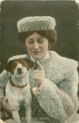 MISS DELIA MASON with terrier