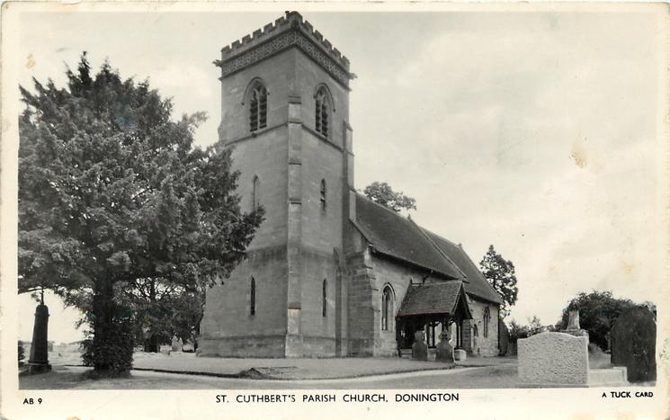 ST. CUTHBERT'S CHURCH, DONINGTON
