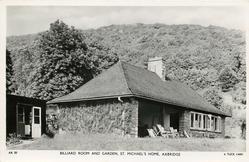 BILLIARD ROOM AND GARDEN, ST. MICHAEL'S HOME
