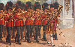 THE BAND ENTERING BUCKINGHAM PALACE